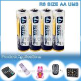 R6 size aa super capacitor zinc battery