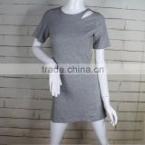 fashion elegant gray short sleeve round neck sexy western gowns ladies dresses from china supplier on alibaba