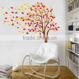New removable vinyl wall stickers 2pcs/set Tree and birds diy home decor Giant wall decals 170*190cm Free shipping JM7172