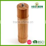 Bamboo shape pepper mill/wooden pepper grinder for kitchen