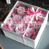 Personalized Design Clear Acrylic Material Window Boxes For Cut Flower Or Flower Shaped Box