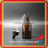 Supply glass essential oil bottle 10ml amber clear glass bottle with eye dropper for beard oil