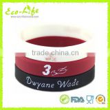 Glow in Dark Silicone Fluorescent Bracelet, Basketball Star 3 Wade Sport Band Wristband, Souvenirs Gift