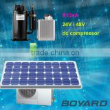 mini auto 48V compressor battery powered for solar air heater system solar cold storage of telecom tower shelter