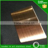hairline cooper anti-finger coating stainless steel sheet for architecture decoration