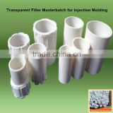 transparent filler pe masterbatch injection use in plastic