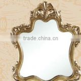 SJ-9180-4 deep gold decorative plastic mirror frames
