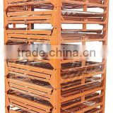 Folding/stacking mesh stillage/steel storage container