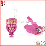 Bbw pink owl nail clippers cover finger toe keychain travel stainless steel manufacturer from china