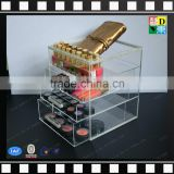 2016 Factory Price Acrylic Cosmetic Case/Acrylic Storage Box/Customized 4 tiers makeup organizer