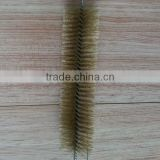 Long handle brass wire boiler tube cleaning brush