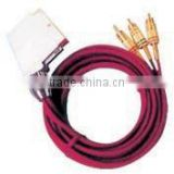 Scart male to 3RCA male cable