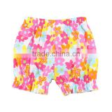 2017 Baby Boutique Clothes Wholesale Flower Gilrs' Summer Shorts Kids Fashionable Bloomers