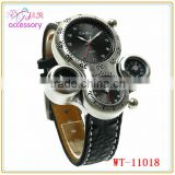 Two timer watch with mini compass and thermometer for out door