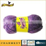 Charmkey classic women sweater fancy knitting yarn acrylic sequin yarn blended yarn