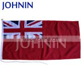 Custom size durable knitted polyester boat use Red English flag
