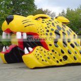 sports inflatable football soccer leopard tunnel entrance