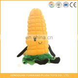 "7.5"" stuffed yellow corn plush vegetable pillow toy"