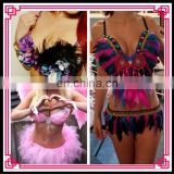 Aidocrystal Hot sale fashion fancy sexy adult women hand beaded Indian belly dance girl Performance costume
