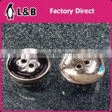 Popular Plastic Plating Button Point oil Concave flower Buntton