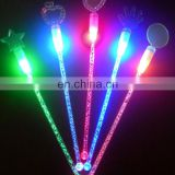 Popular LED flashing bar led lights plastic liquid led colored plastic lighting drink stirrers