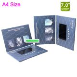 Business Gift Use and Folded Paper Product Type lcd screen video brochure