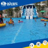 large water slide inflatable trampoline,outdoor water slide with pool,CE inflatable water slide