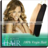 5A Top Quality 100% Virgin Sliky Straight European Micro Link Hair