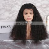 2018 high volume large density long hair human hair full lace wig