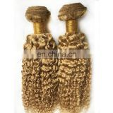 No tangle no shedding deep curly Blonde human hair weave buy direct from china factory