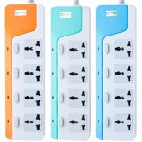 Hot Sale USB power strip.Adapters, Outlet Strip with 4 Sockets + 2 USB