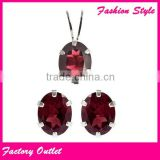 Wholesale Fashion Crystal ruby diamond bridal jewelry set