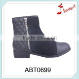 Wholesale women three elements upper ankle boots motorcycle dealer boots china