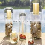 glass dispaly hurricane pillar votive taper candle cups