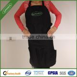 Black China wholesale canvas/600D/custom cooking apron,polyester apron