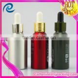 wholesale 30ml aluminium essential oil dropper bottle for aromatherapy with logo hot stampling