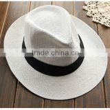 Popular Summer shading straw hat not expensive plain wholesale straw cowboy hats sombrero straw hat wholesale