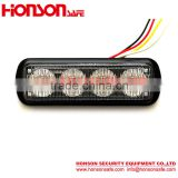 LED Thin Waterproof headlight Surface Mount Dash Grille Strobe light 4 led Car Emergency light HF-148