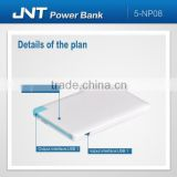 Ultra-thin item hot selling fast charging professinal factory power bank NP08 with CE,RoHs,FCC