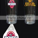 promotional gifts led flashing light Projection cups ,custom led plastic cup in factory