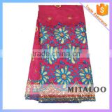 Mitaloo 2015 New Stock Nigerian George Lace With Sequins And Embroidery In Apparel MGP0036