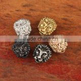 S865 Wholesale 304 stainless steel lion head charms bead,Lion head metal bead                                                                         Quality Choice