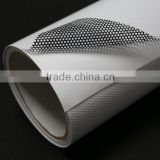 PVC materials car window film printable inkjet perforated vinyl 180mic removable self adhesive one way vision