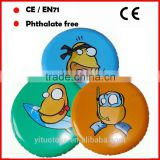 23 cm type inflatable beach toys cartoon inflatable frisbee
