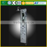 Thermostatic Aluminum Shower Panel With Eight Massage Jets