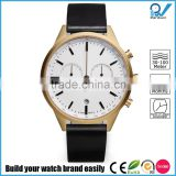 PVD satin gold case 316L stainless steel case scratch-resistant multi-functional stainless steel men chronograph watch