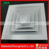 HVAC system aluminum alloy 4 way air diffuser