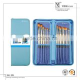 15pcs Wooden Handle Nylon Hair Art Brush Set