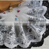 Latest design garment accessory eco-friendly feature water soluble tulle cord lace trims