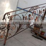 modern outdoor wrought iron staircase handrail design